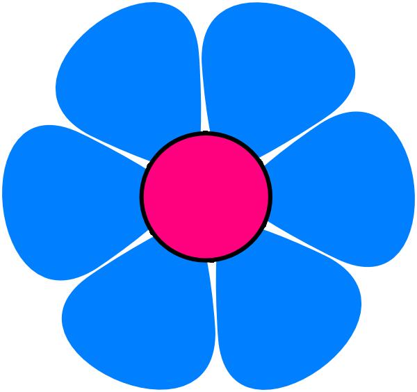 Blue Pink Flower Power Clip Art at Clker.com - vector clip art online ...
