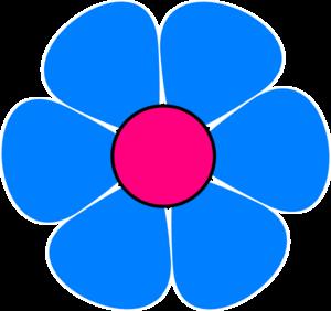 Blue pink flower power clip art at clker vector clip art blue pink flower power clip art mightylinksfo