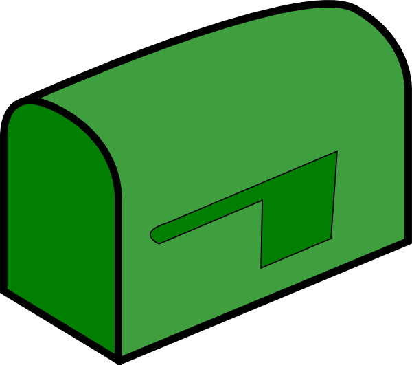 green mailbox clip art at clker com vector clip art online rh clker com mailbox clipart black and white clipart mailbox free