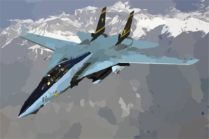 An F-14 Tomcat Embarked Aboard Uss Harry S. Truman (cvn 75) Flies A Combat Mission In Direct Support Of Operation Iraqi Freedom. Clip Art