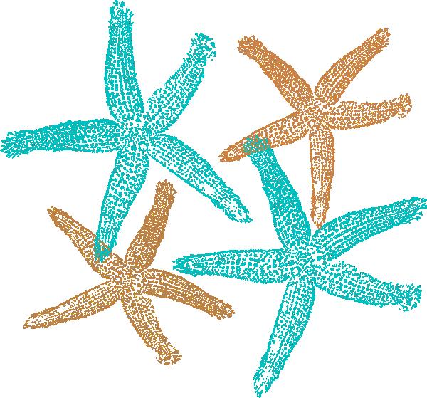 Starfish Prints Clip Art at Clker.com - vector clip art ...