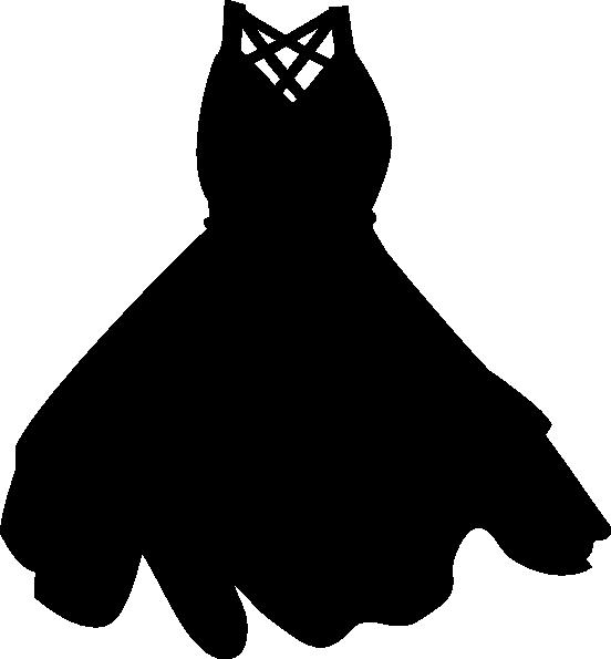 black dress clip art at clkercom vector clip art online
