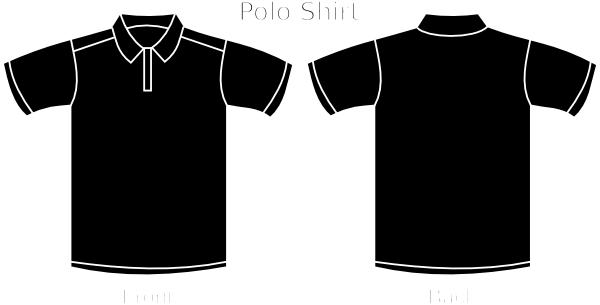 black polo tee clip art at clker com