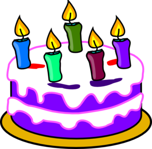 Birthday Cake Cartoon Clipart 1