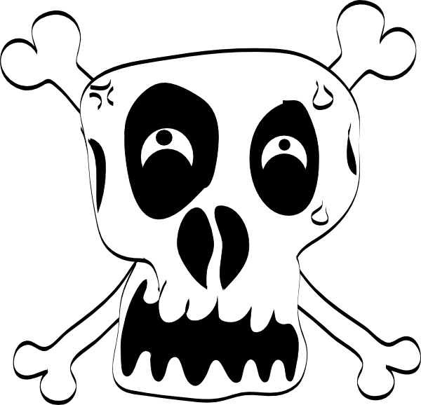 Funny Skull Clip Art at Clker.com - vector clip art online, royalty ...