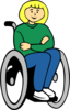 Handicapped Girl  Clip Art