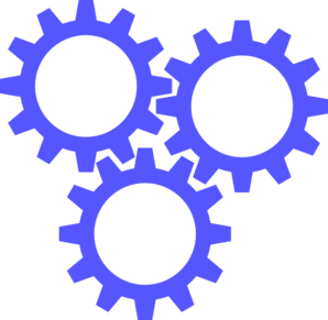 3 Blue Gears Clip Art at Clker.com - vector clip art ...