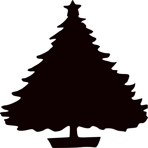 christmas tree vector black png phone
