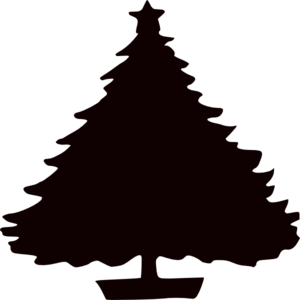Black Christmas Tree Silhouette Clip Art