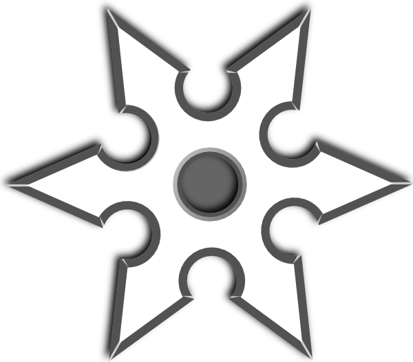 Ninja Shirken Star Clip Art at Clker.com - vector clip art online ...