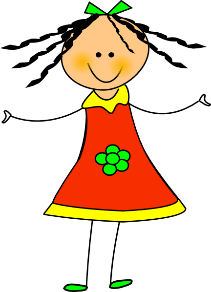Happy Girl Clip Art at Clker.com - vector clip art online, royalty ...