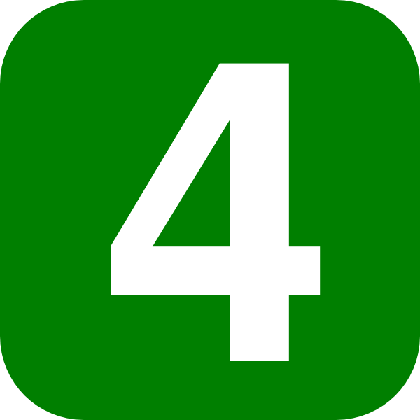 Clipart Green Number 4