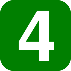 Green Number 4 Clip Art