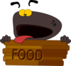 Hungry Dog Character Clip Art