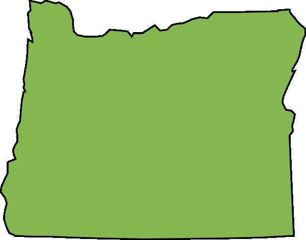 Oregon State Outline Map In Svg Format Clip Art at Clker com