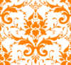 Orange Damask Clip Art