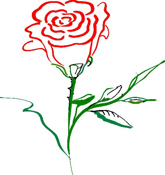 rose outline clip art at clker com vector clip art online royalty rh clker com