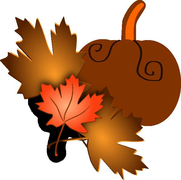pumpkin leaf clipart