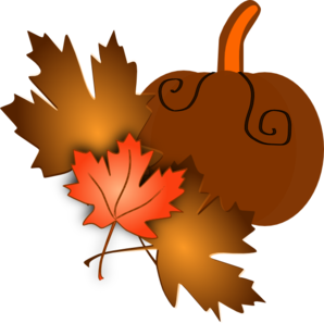 Pumpkin With Leaves Clip Art