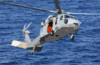 N Mh-60s Knighthawk Helicopter Assigned To The  Providers  Of Helicopter Composite Squadron Five (hc-5) Slows Down For A Landing On The Flight Deck Of The Military Sealift Command Ship Usns Concord (t-afs 5) Clip Art