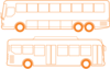 Bus Outlines Clip Art