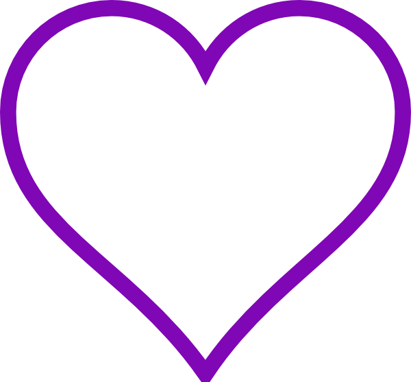 purple heart outline clip art at clker com vector clip art online rh clker com