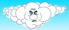 Mad Cloud Clip Art
