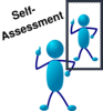 Blue Stick Man Self Assessment Clip Art