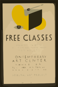 Free Classes In Drawing, Painting, Sculpture And Photography For Adults Clip Art