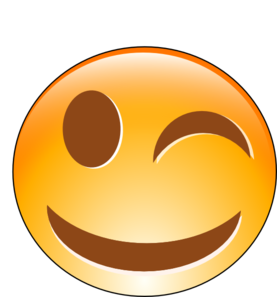 Winking Smiley Clip Art