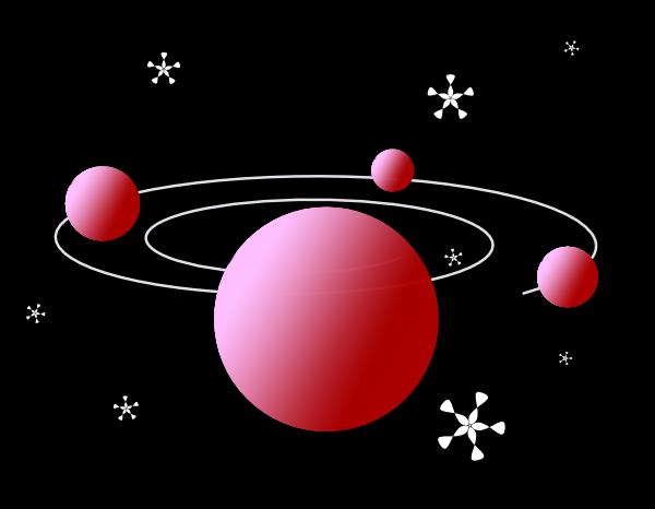 Red Solar System Clip Art At Clker Com Vector Clip Art