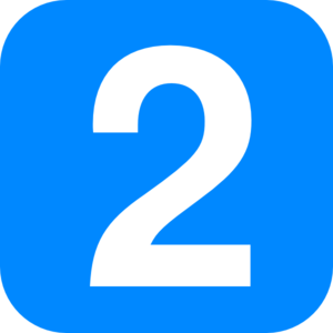 Blue Number Two Clip Art