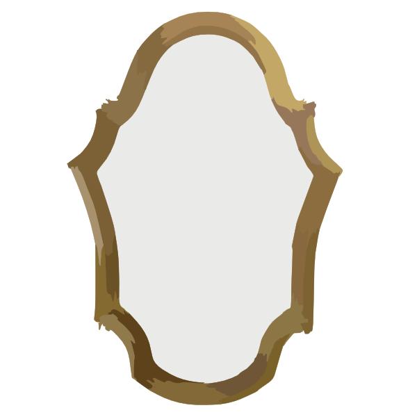 lola derek espejo ovalado oro antiguo clip art at clker