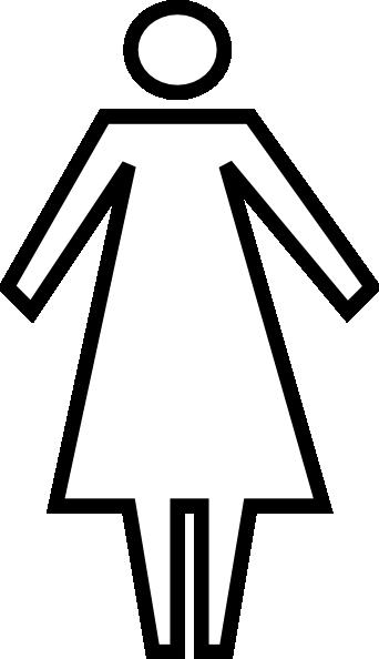 generic woman symbol clip art at clkercom vector clip
