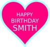 Smith Bday2 Clip Art