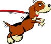 Dog On Leash Clip Art