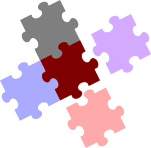 Jigsaw Piece Combination Clip Art