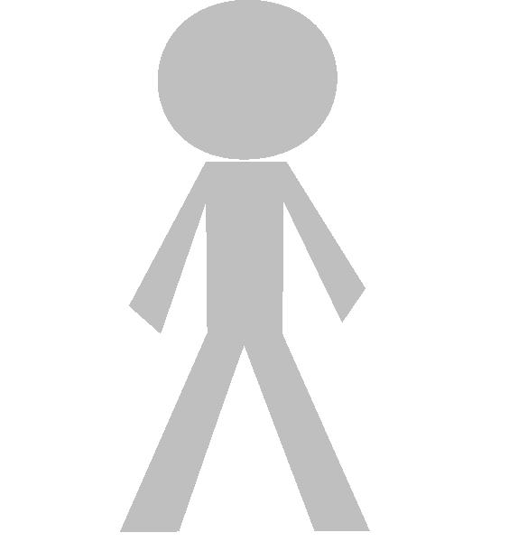Disengaged Stick Figure Clip Art at Clker.com - vector ...