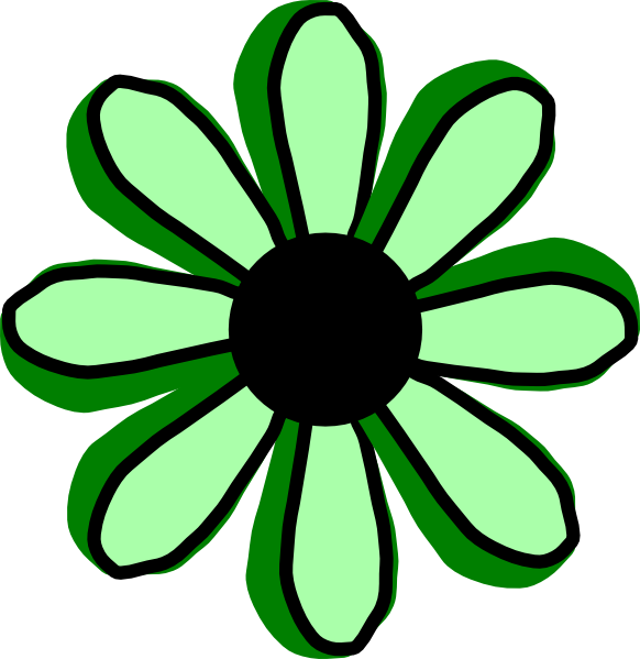 free green flower clipart - photo #19