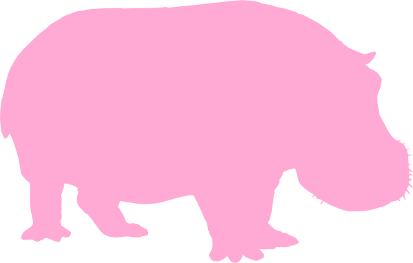 Baby Pink Hippo New Clip Art at Clker.com - vector clip ...