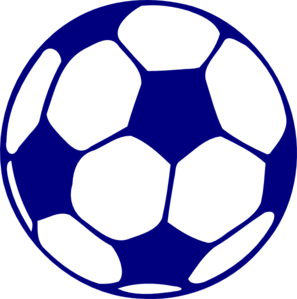 Blue Football Clip Art