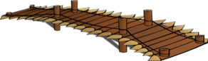 Wooden Bridge Wide Long Version Clip Art
