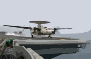 E-2c Hawkeye Launches From Uss Kitty Hawk Cv 63 Clip Art