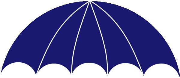 Umbrella Overarch Blue Cap Clip Art At Clker Com Vector