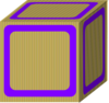 Block Plain Purple Clip Art