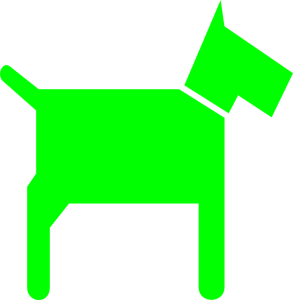 green dog clipart - photo #3