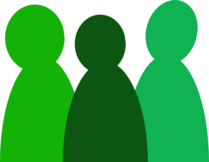 Three Green People Clip Art
