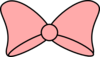 Pink Bow Black Trim Clip Art