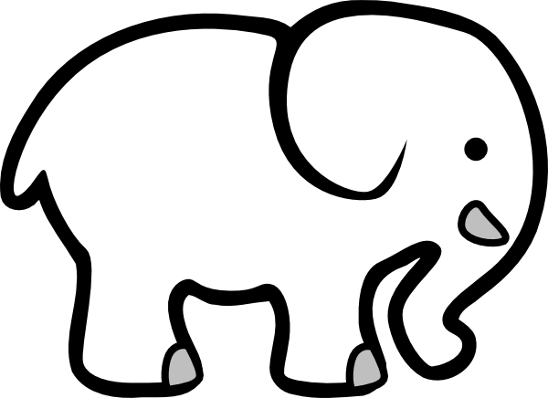 white elephant clip art at clker com vector clip art online rh clker com elephant clipart grey and white elephant clipart baby shower