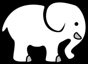 white elephant clip art at clker com vector clip art online rh clker com elephant clipart for kids elephant clipart no background